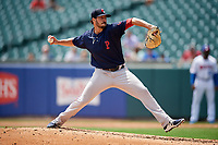 Pawtucket Red Sox starting pitcher Chandler Shepherd (28) delivers a pitch during a game against the Buffalo Bisons on June 28, 2018 at Coca-Cola Field in Buffalo, New York.  Buffalo defeated Pawtucket 8-1.  (Mike Janes/Four Seam Images)