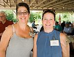 WATERBURY, CT-071517JS07--Lydia Babbitt and Stacy DeMatteo at the Third Annual O&G Industries Retiree Picnic held Saturday at La Bella Vista in Waterbury.  Jim Shannon Republican-American
