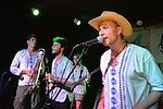 Kaohsiung, Taiwan -- LA CUMBIA DEL SOL performing at the Paramount Bar on July 06, 2014.