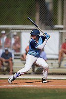 Hayden Dunhurst during the WWBA World Championship at the Roger Dean Complex on October 20, 2018 in Jupiter, Florida.  Hayden Dunhurst is a catcher from Carriere, Mississippi who attends Pearl River Central High School and is committed to Mississippi.  (Mike Janes/Four Seam Images)