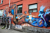 Toronto (ON) CANADA - July 2012 - Graffiti and phone booth