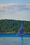 Sailing on the beautiful Lake Almanor, Northern California.