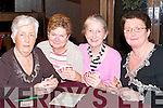 BRIDGE: Playing in the Tralee Congress Table Bridge at the Manor West Hotel, Tralee on Friday night the 29 December 2006 l-r: Mary Mc Namara (Ballybunion), Carmel Pierse (Listowel), Cecilia Doorly (Ballybunion) and Marie Gorman (Listowel)..