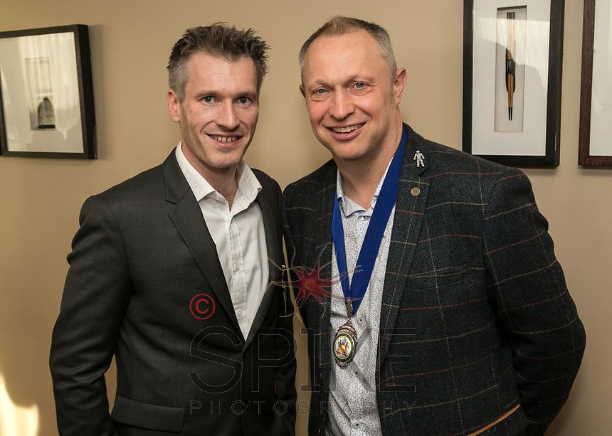 Chris Roper (left) of John Pye Properties with NCBC President Mark Deakin