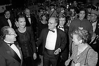 FILE PHOTO - Le Ministre Michel Dupuis,<br /> Carole Bouquet Serge Losique a<br /> l'ouverture du Festival des Films du Monde, a la Place des arts, le 25 aout 1994.<br /> <br /> PHOTO : Pierre Roussel<br />  - Agence Quebec Presse