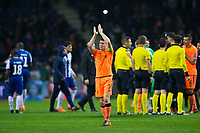 Liverpool's James Milner applauds the fans at the final whistle <br /> <br /> Photographer Craig Mercer/CameraSport<br /> <br /> UEFA Champions League Round of 16 First Leg - FC Porto v Liverpool - Wednesday 14th February 201 - Estadio do Dragao - Porto<br />  <br /> World Copyright &copy; 2018 CameraSport. All rights reserved. 43 Linden Ave. Countesthorpe. Leicester. England. LE8 5PG - Tel: +44 (0) 116 277 4147 - admin@camerasport.com - www.camerasport.com