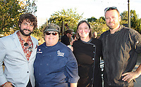 NWA Democrat-Gazette/CARIN SCHOPPMEYER Case Dighero, 2016 Chefs in the Gardenhonorary chairman (from left), is joined by Mauddie Schmitt, Chrissy Sanderson and Bill Lyle, past honorary chairmen,Tuesday evening at the Botanical Garden of the Ozarks annual benefit.