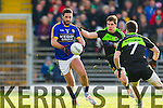 Bryan Sheehan Kerry in action against  Lee KeeganMayo in the first round of the National Football League at Fitzgerald Stadium Killarney on Sunday.