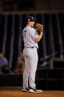 Tampa Tarpons relief pitcher Dalton Lehnen (17) during a Florida State League game against the St. Lucie Mets on April 10, 2019 at George M. Steinbrenner Field in Tampa, Florida.  St. Lucie defeated Tampa 4-3.  (Mike Janes/Four Seam Images)
