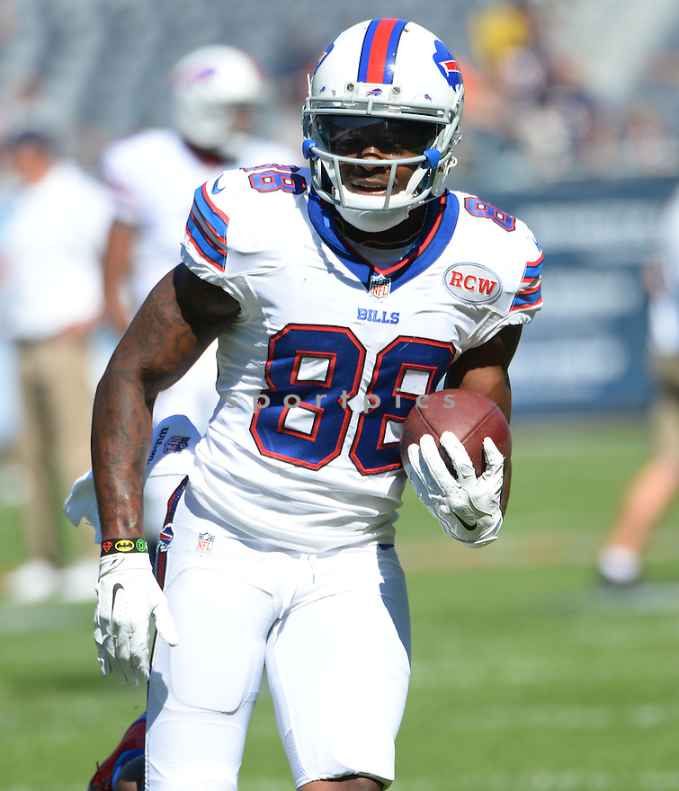 Buffalo Bills Marquise Goodwin (88) during a game against the Chicago Bears on September 7, 2014 at Soldier Field in Chicago, IL. The Bills beat the Bears 23-20.