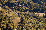 Highway acting as a barrier for wildlife, Laurel Curve, Highway 17, Santa Cruz Mountains, Monterey Bay, California