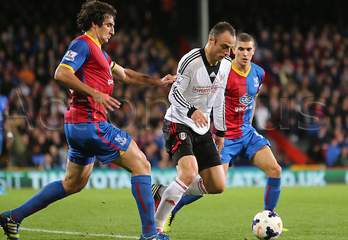 21.10.2013 London, England. Dimitar Berbatov in action during the Barclays Premier League fixture between Crystal Palace and Fulham from Selhurst Park