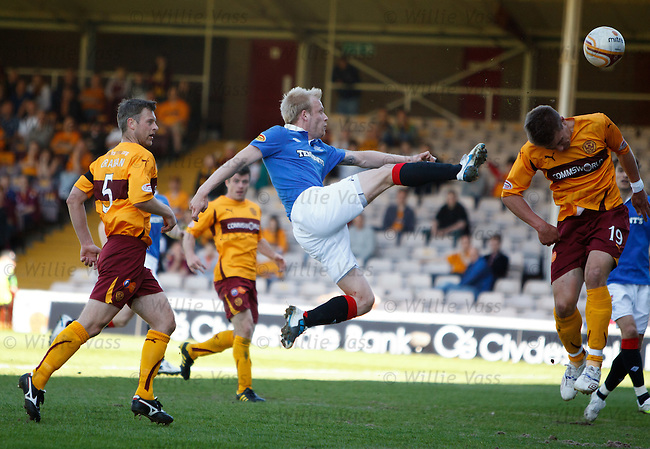 Steven Naismith dinks the ball over Shaun Hutchinson
