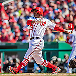5 April 2018: Washington Nationals second baseman Howie Kendrick in action against the New York Mets at Nationals Park in Washington, DC. The Mets defeated the Nationals 8-2 in the first game of their 3-game series. Mandatory Credit: Ed Wolfstein Photo *** RAW (NEF) Image File Available ***