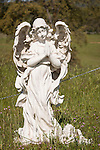 Angel in the historic 19th century Gold Rush era City Cemetery, Chinese Camp, Calif.