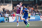 Leicester City (in blue) vs Aston Villa (in purple), during their Main Tournament Cup Final match, part of the HKFC Citi Soccer Sevens 2017 on 28 May 2017 at the Hong Kong Football Club, Hong Kong, China. Photo by Chris Wong / Power Sport Images