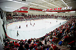 A general view of the LaBahn Arena during the Wisconsin Badgers NCAA women's college WCHA Conference playoff hockey game against the St. Cloud State Huskies Saturday, March 2, 2013, in Madison, Wis. The Badgers won 4-1. (Photo by David Stluka)