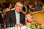Fr.  Sean Hanafin with Grand nephew Finan Coakley at his Farewell Party at the Meadowlands Hotel on Friday