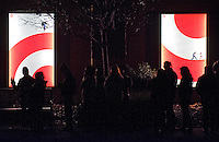 Customers waiting for Target to open for early Black Friday shopping, stand in a line that wraps around the building, along Kawana Springs Road on Thursday, November 28, 2013 in Santa Rosa.  (Alvin Jornada / The Press Democrat)