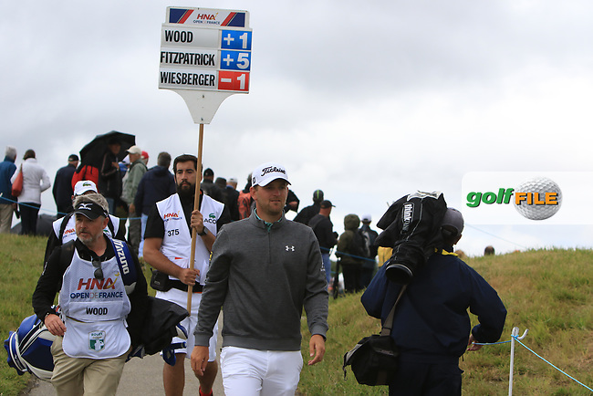 Bernd Wiesberger (AUT) walking to the 3rd tee during Round 2 of the HNA Open De France  at The Golf National on Friday 30th June 2017.<br /> Photo: Golffile / Thos Caffrey.<br /> <br /> All photo usage must carry mandatory copyright credit      (&copy; Golffile | Thos Caffrey)