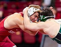 Stanford, California - February 17, 2019: Stanford Wrestling wins 32-5 over Cal Poly at Maples Pavilion in Stanford, California.