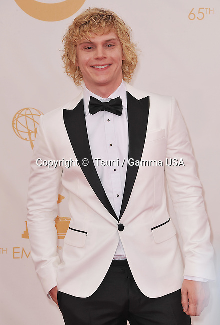 Evan Peters 342 arriving at the 65th Primetime Emmy Awards at the Nokia Theatre in Los Angeles.