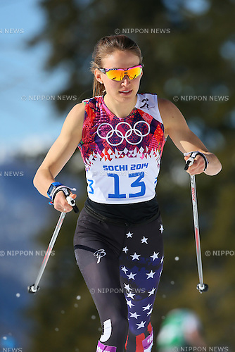 Sophie CALDWELL (USA),<br /> FEBRUARY 13, 2014 - Cross Country Skiing : <br /> Women's 10km <br /> at &quot;LAURA&quot; Cross-Country Ski &amp; Biathlon Center <br /> during the Sochi 2014 Olympic Winter Games in Sochi, Russia. <br /> (Photo by Yohei Osada/AFLO SPORT)