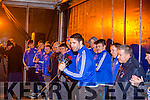 Kerry Captain Bryan Sheehan and St Mary's team mates at the homecoming in Cahersiveen on Sunday night.