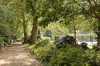 Cadogan Square, London. A private green park space accessible only to residents of Cadogan Square iteself.