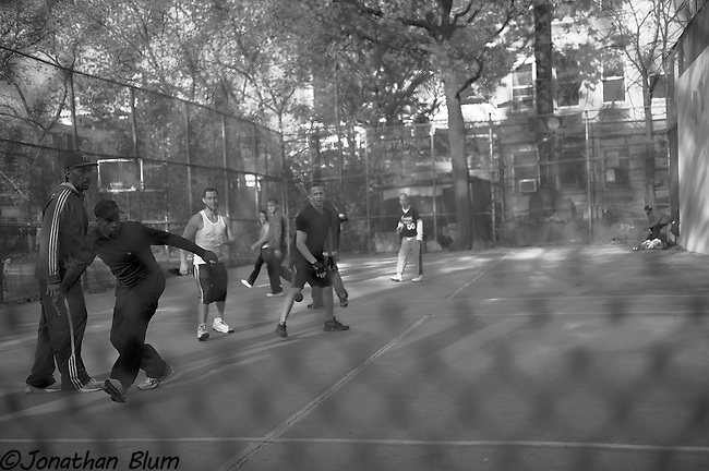 Handball in the Village, W. 4th Street, New York City