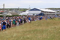 Part of the crowd along the 18th during Round 4 of the Irish Open at LaHinch Golf Club, LaHinch, Co. Clare on Sunday 7th July 2019.<br /> Picture:  Thos Caffrey / Golffile<br /> <br /> All photos usage must carry mandatory copyright credit (© Golffile | Thos Caffrey)