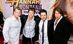 "HOLLYWOOD, CA. - April 02: Rascal Flatts' Gary LeVox, Joe Don Rooney, Jay DeMarcus and Billy Ray Cyrus arrive at the premiere of Walt Disney Picture's ""Hannah Montana: The Movie"" held at the El Captian Theatre on April 2, 2009 in Hollywood, California."