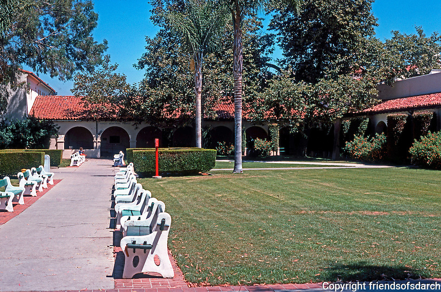 Mission Revival Houses, Buildings: San Diego State. (Photo 1978)