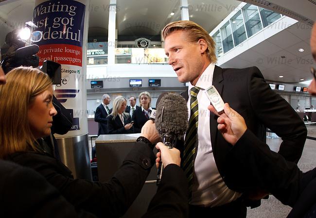 Celtic's assistant manager Johan Mjallby