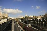 Israel, Jerusalem. Begin Expressway
