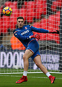 9th December 2017, Wembley Stadium, London England; EPL Premier League football, Tottenham Hotspur versus Stoke City; Goalkeeper Jack Butland of Stoke City during pre match warm up