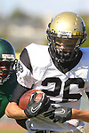 Torrance, CA 10/06/11 - Jason Burr (Peninsula #26) in action during the Peninsula vs South Torrance Frosh football game.