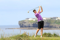 Ryan McKinstry (Cairndhu) on the 12th tee during Round 3 of The South of Ireland in Lahinch Golf Club on Monday 28th July 2014.<br /> Picture:  Thos Caffrey / www.golffile.ie