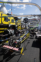Mar 30, 2014; Las Vegas, NV, USA; The pit area of NHRA top fuel driver Richie Crampton during the Summitracing.com Nationals at The Strip at Las Vegas Motor Speedway. Mandatory Credit: Mark J. Rebilas-