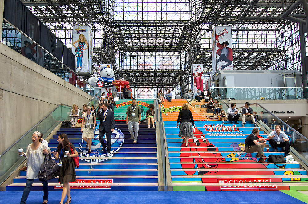 Branded stairway at the International Licensing Show, Jacob Javits Center