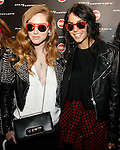 Chiara Ferragni (L) and Chiara Biasi attend Colmar Italia Independent party as part of the Milan Fashion Week Women's wear Fall / Winter 2014 / 2015, in Milan on February 21, 2014.