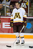 Mike Howe (University of Minnesota - St. Cloud, MN) lines up. The University of Minnesota Golden Gophers defeated the Michigan State University Spartans 5-4 on Friday, November 24, 2006 at Mariucci Arena in Minneapolis, Minnesota, as part of the College Hockey Showcase.