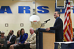 State lawmakers listen to Superintendent Dale Erquiaga speak before Nevada Gov. Brian Sandoval signs an anti-bullying bill into law at Carson Middle School in Carson City, Nev., on Wednesday, May 20, 2015. <br /> Photo by Cathleen Allison