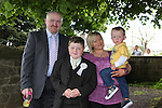 Nathan Conlon- Myles his brother Max and parents Shane and Fiona at First Communion in Donore Church..Photo: Fran Caffrey/www.newsfile.ie..