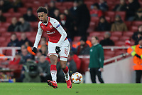 Joe Willock of Arsenal on the ball during the UEFA Europa League match between Arsenal and FC BATE Borisov  at the Emirates Stadium, London, England on 7 December 2017. Photo by David Horn.