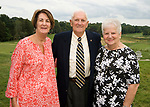 WATERBURY, CT-0712817JS06--Lynn Daly, left, with Harvey and Rosemary Wiener at the Waterbury Lions Club's annual Installation Dinner at the Waterbury Country Club. <br /> Jim Shannon Republican-American