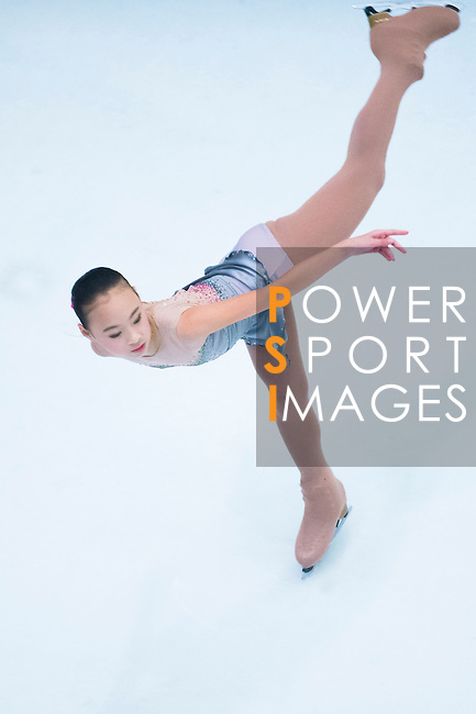 Yi Ni Feng during the Asian Junior Figure Skating Challenge 2015 on October 07, 2015 in Hong Kong, China. Photo by Moses Ng/ Power Sport Images