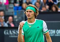 Den Bosch, Netherlands, 16 June, 2017, Tennis, Ricoh Open,  Alexander Zverev (GER)<br /> Photo: Henk Koster/tennisimages.com