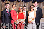 Phil O'Connell, Lucia Baily, Ellen Horan, Jack McAuliffe, Amy Sweeney and Neil Crowley at the Castleisland Presentation debs ball at the Earl of Desmond hotel on Saturday night.