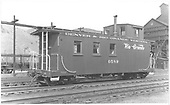 Caboose #0589 at Salida.<br /> D&amp;RGW  Salida, CO  Taken by Treptow, Russell F. - 6/2/1942